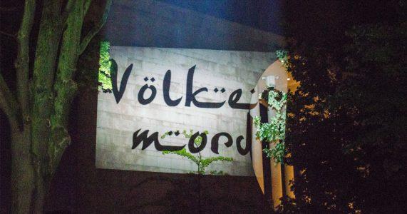 Völkermord Lichtkunst PixelHELPER gegen Erdogan